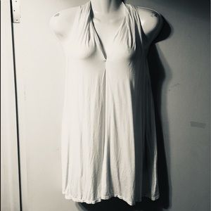 Max Studio XL white knit halter tunic
